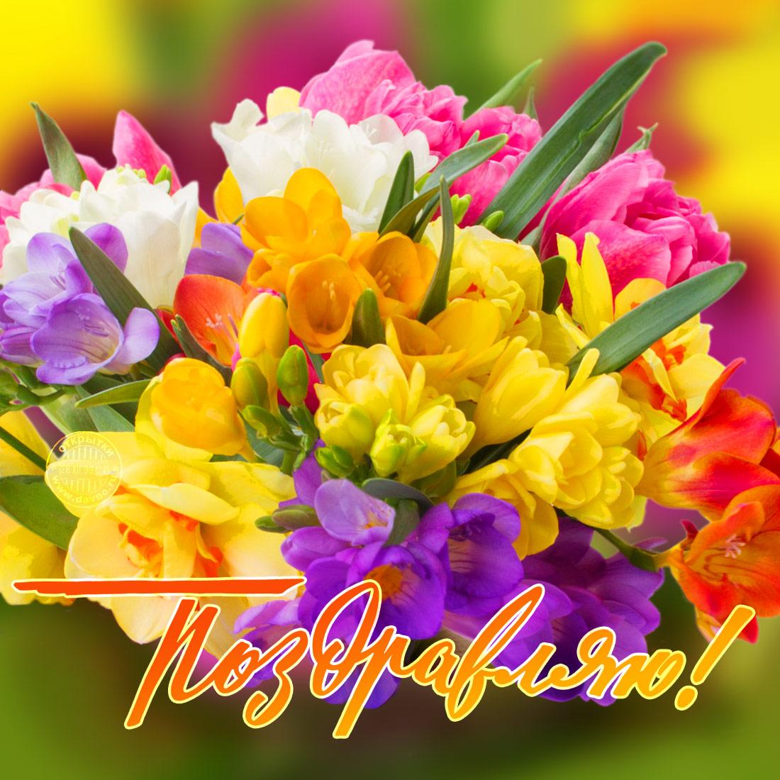 Цветочек поздравление с днем рождения
