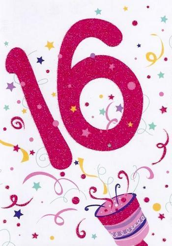 открытки ко дню рождения на шестнадцатилетие